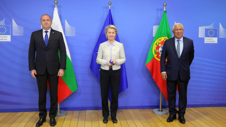 Радев и Фон дер Лајен: Потребни ни се позитивни примери во билатералните односи меѓу Бугарија и  Македонија