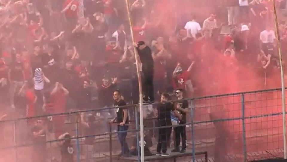 Кривични против навивачите кои влегоа на теренот на натпреварот Шкендија – Шкупи