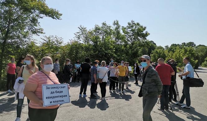 Протестираат штипски текстилни работници: Не зеле плата, им вршат притисок да се префрлат во друга фирма