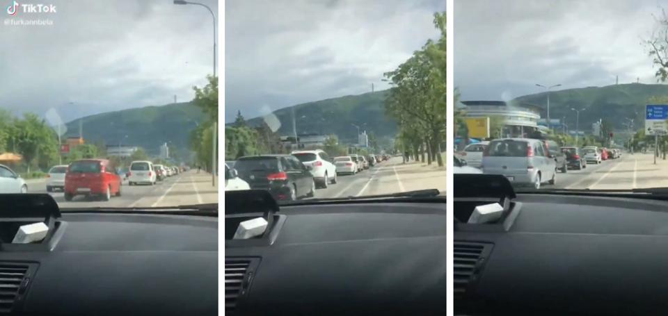 (ВИДЕО) Ново дивеење низ скопските улици: Вози по велосипедска за да избегне метеж