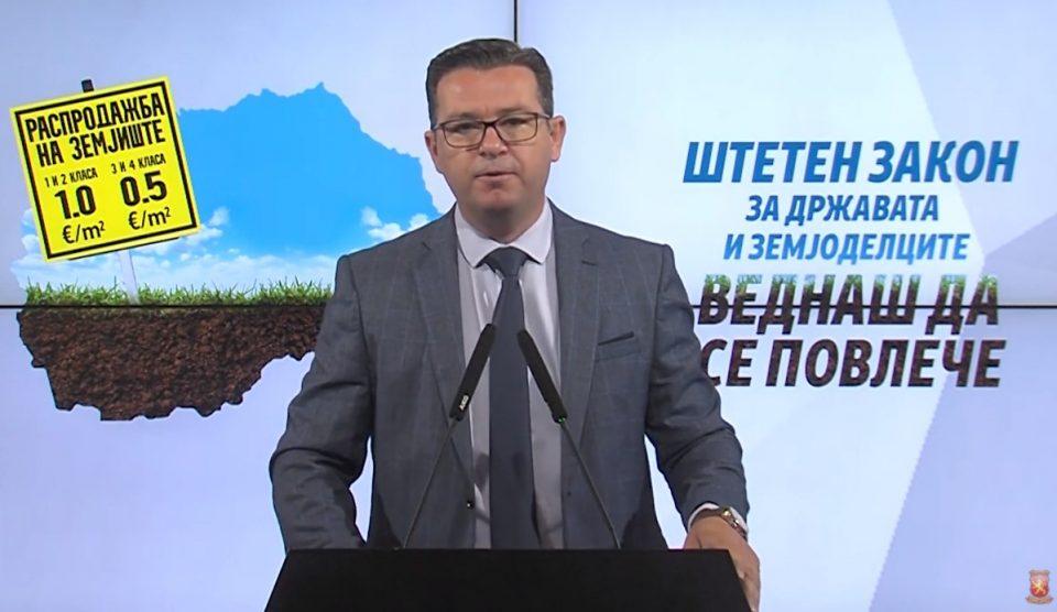 Трипуновски: Заев ја распродава Македонија и им ја дава на олигарсите и странците
