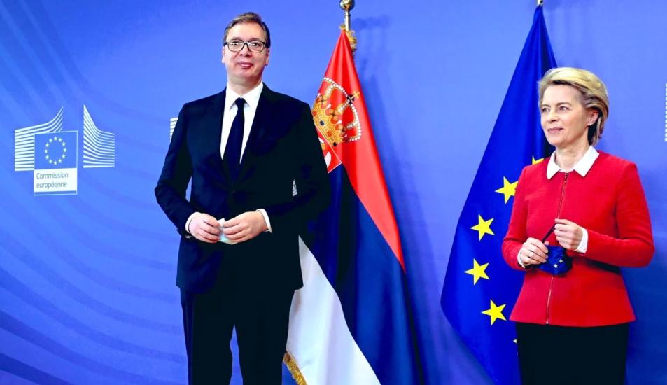 Фон дер Лајен – Вучиќ: Пругата од Белград до С.Македонија е огромен чекор напред