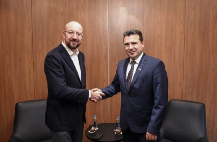 Заев на средба со претседателот на Европскиот Совет за ЕУ перспективата на Македонија