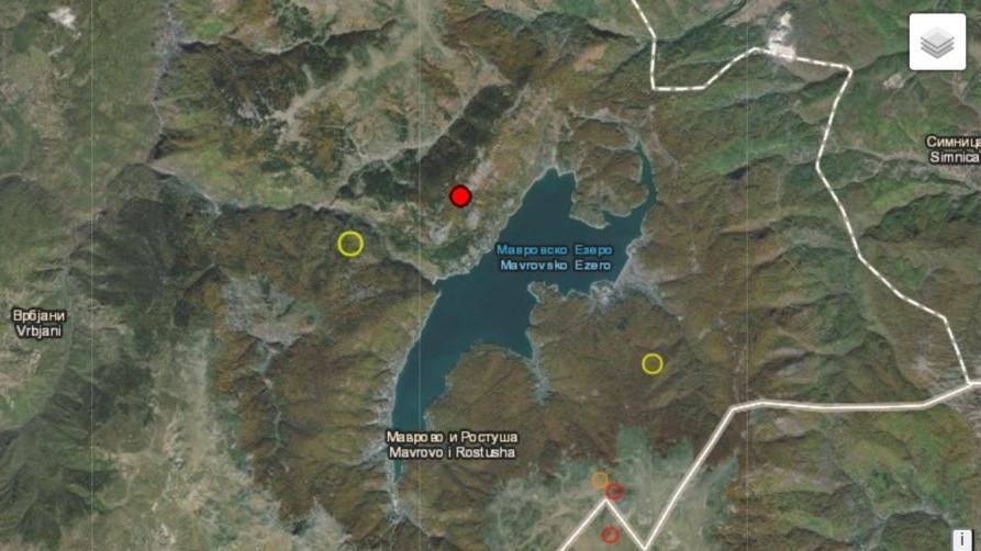 Два послаби земјотреси регистрирани во Маврово