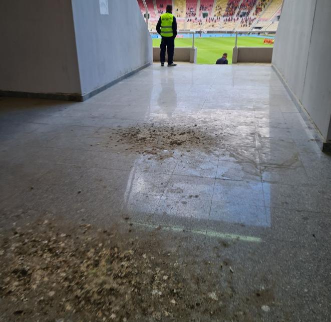 """(ФОТО) Ужасна глетка: Градскиот стадион во Скопје """"фарма за кокошки"""""""