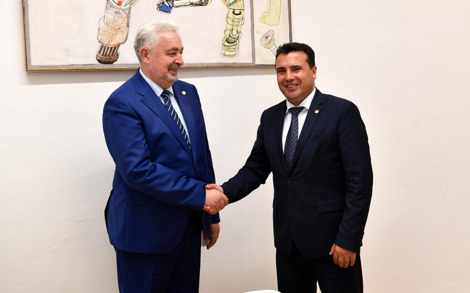 Заев – Кривокапиќ: Соработката меѓу  Македонија и Црна Гора ќе се интензивира уште повеќе