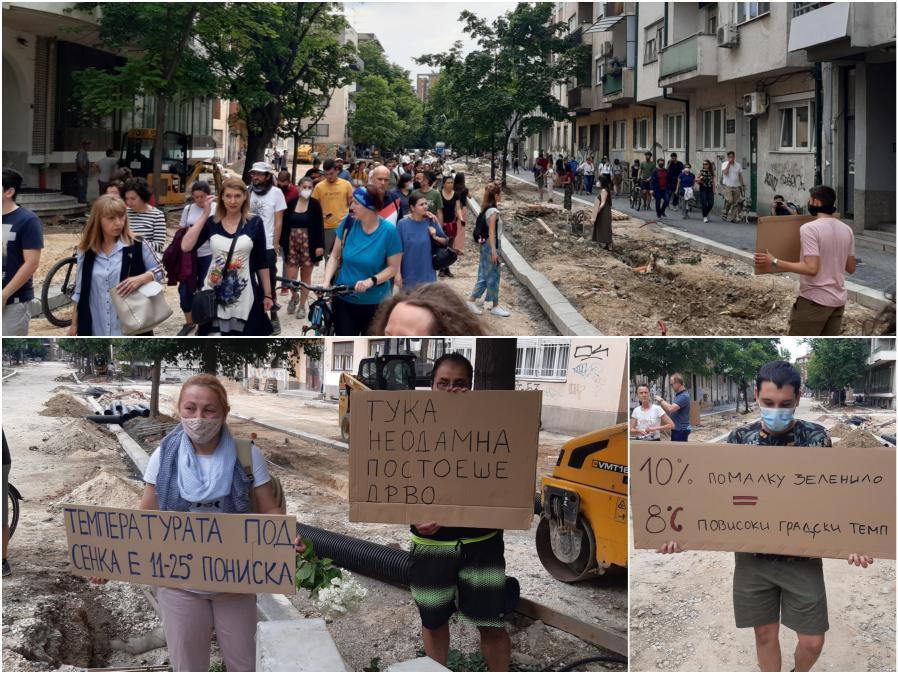 """Протест на веќе соголената """"Орце Николов"""": Кога пилите стивнаа време е да преземете одговорност!"""