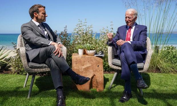 """""""Америка се врати"""": Бајден доби поддршка од Макрон на самитот Г7"""