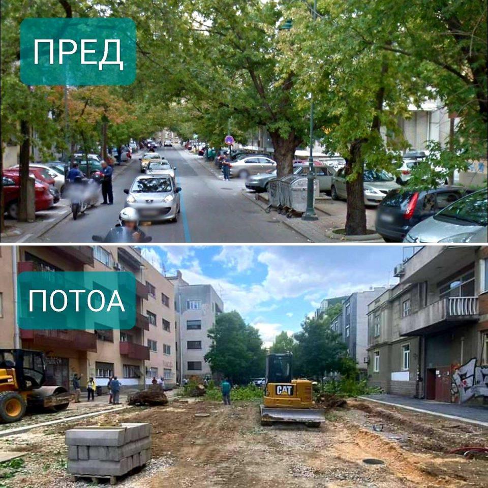 """""""Кога пилите ќе стивнат"""" – денеска протест за сечата на дрвја на """"Орце Николов"""""""