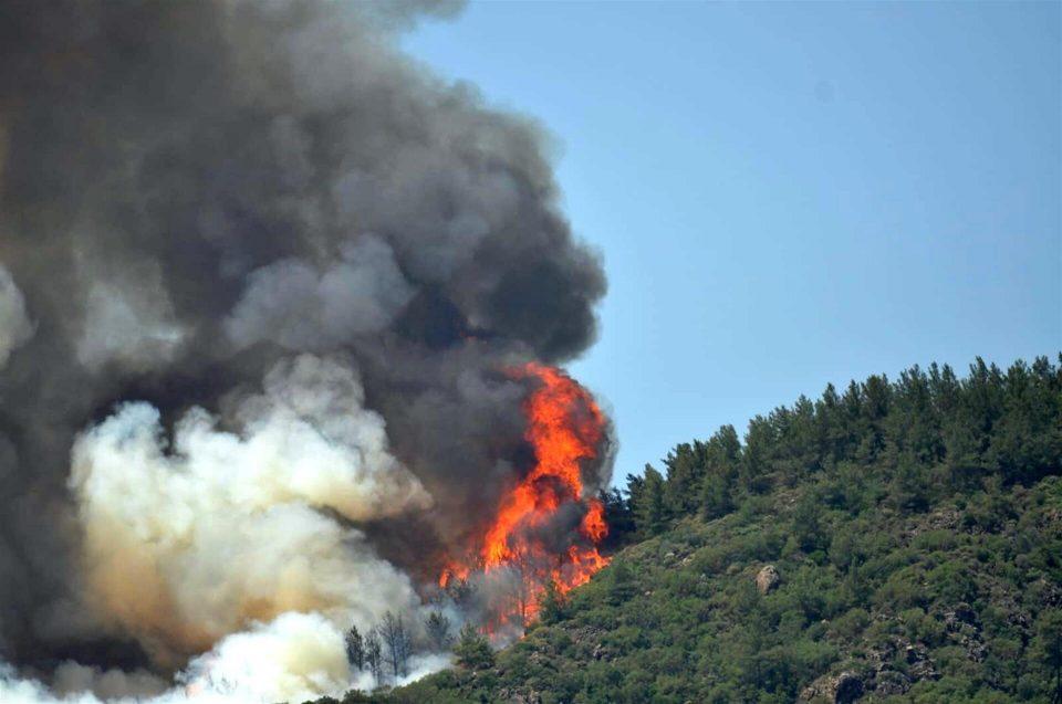 (ВИДЕО) Голем пожар на плажа во Мармарис, едно лице загинато