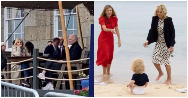 (ФОТО) Џо Бајден и Џил во неформално издание на плажа