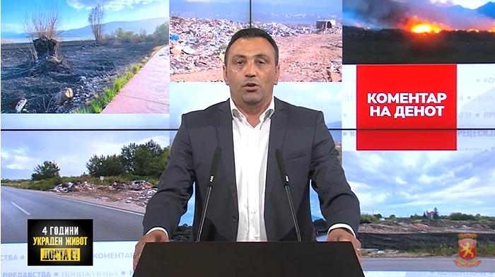 Аџиоски: Четири години зелена коалиција ДУИ-СДСМ, четири години Струга тоне во смет и се гуши