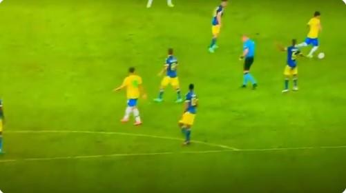 """(ВИДЕО) Судија """"асистираше"""" за првиот гол на Бразил, Колумбијците бесни"""