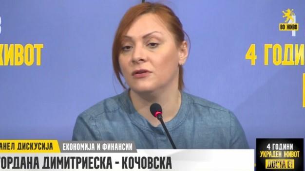 Димитриеска Кочоска: Планот за живот на Заев ни донесе двојно поголемо иселување на младите