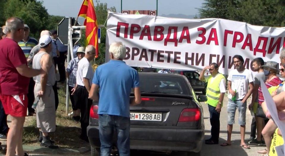 Протест во Градиште – жителите од Пештани бараат да им се вратат одземените имоти