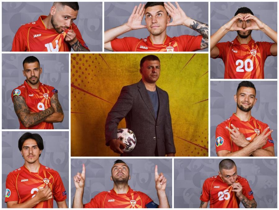 (ГАЛЕРИЈА) Македонските репрезентативци позираа пред камерите на УЕФА