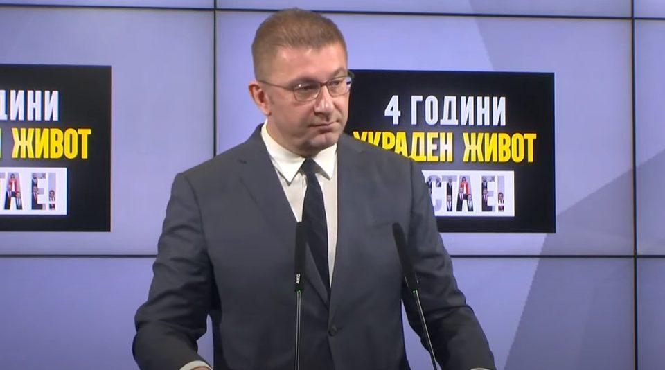 (ВИДЕО) Мицкоски: Имаме четири години украден живот и хибриден режим на мафијата на власт