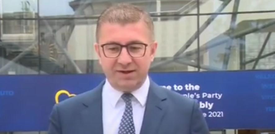 (ВИДЕО) Мицкоски од Брисел: Заев ја донесе државата во ќорсокак, потребни ни се европските интеграции