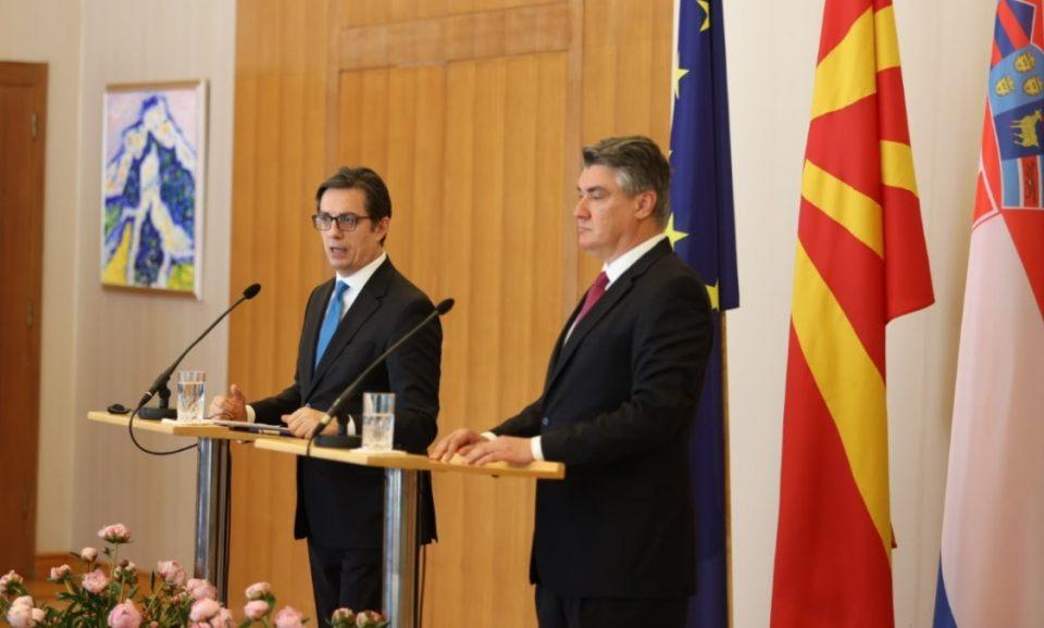 Пендаровски – Милановиќ: За Хрватска нема друга алтернатива освен полноправно членство во ЕУ за Македонија