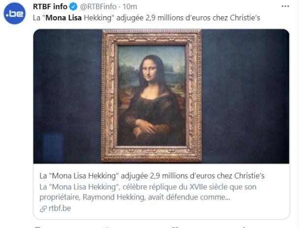 Мона Лиза продадена на аукција, постигнат е апсолутен рекорд за копија