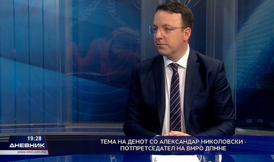 Николоски: ВМРО-ДПМНЕ води на анкетите, можна коалиција со Алијанса и Алтернатива во мешаните средини
