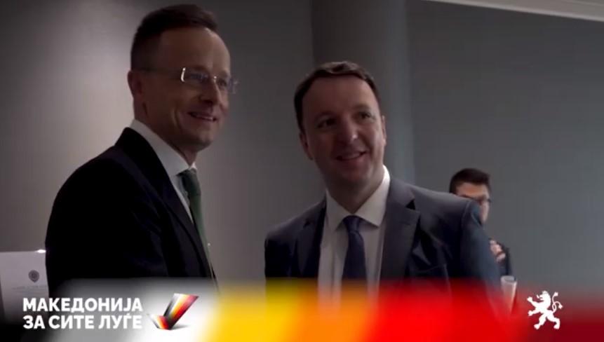 (ВИДЕО) Николоски-Сијарто: Со вистински пријатели и македонскиот народ ќе ги поправиме штетите направени од Заев