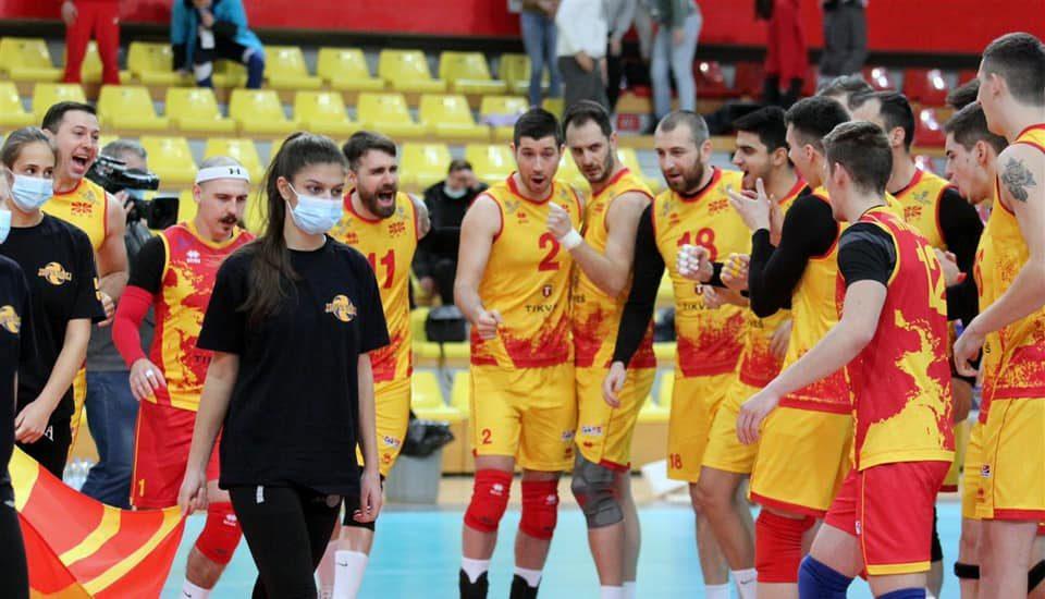 Македонските одбојкари вечерва против Данска ќе играат во финалето на Европската сребрена лига