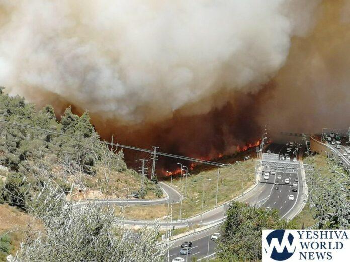 (ВИДЕО) Силен пожар голта се пред себе близу Ерусалим: Населението евакуирано