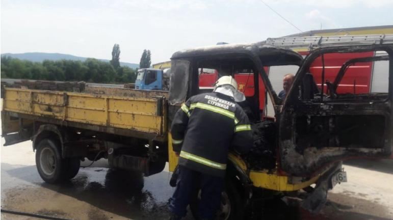 Изгоре камион кај Струмица, нема повредени