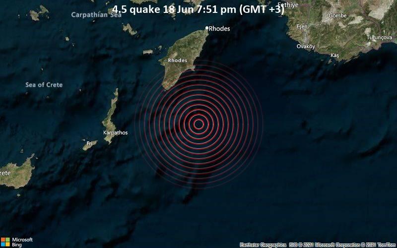 Силен земјотрес го стресе Родос