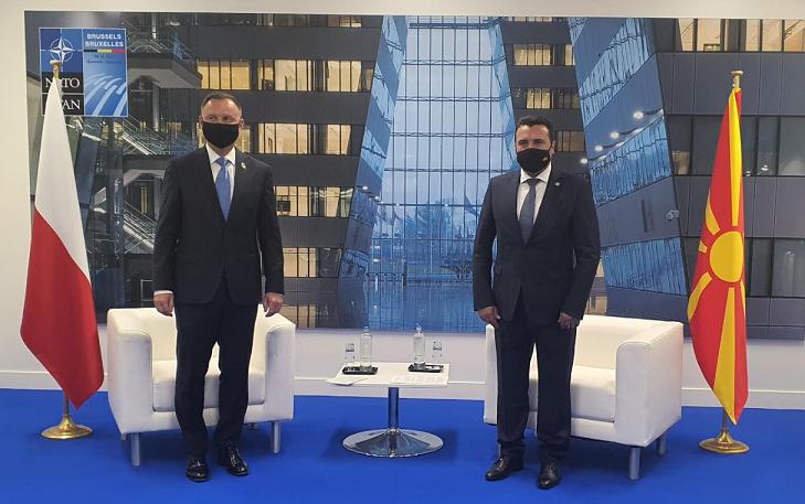 Заев – Дуда: Полската поддршка од исклучителна важност за С. Македонија