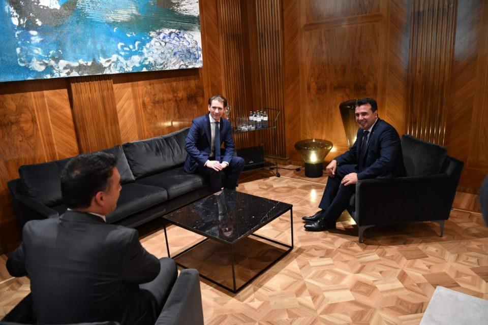 Заев – Курц: Имаме обврска да ја обезбедиме европската иднина на Западен Балкан