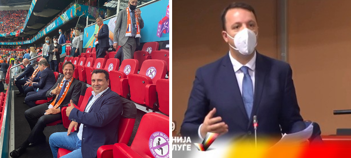 Додека Заев си гледа фудбал опозиционерот Николоски се бори за интересите на Македонија во Стразбур
