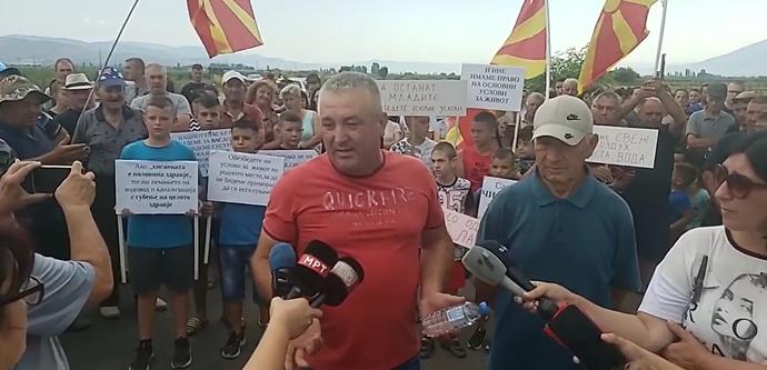 Жителите на село Чифлик излегоа на протест на магистралниот пат Штип-Кочани