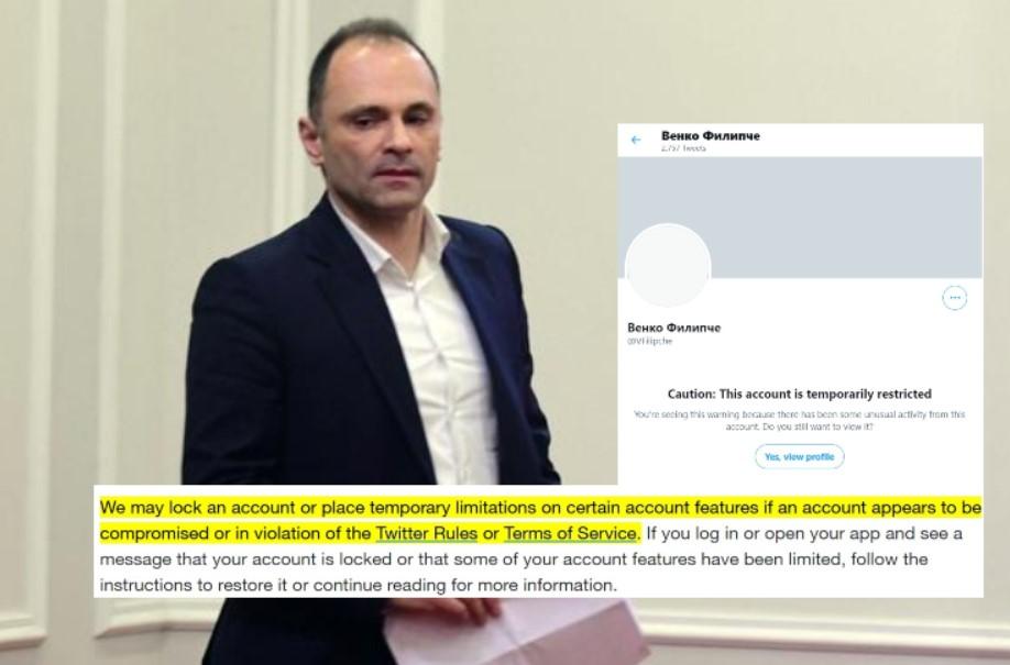 Венко Филипче блокиран од Твитер – што објави тој за да биде суспендиран?