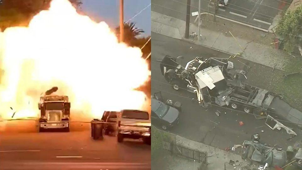 (ВИДЕО) Експлозија во Лос Анџелес, повредени се 17 жртви
