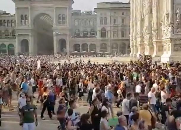 (ВИДЕО) Цела Европа на нозе против ковид-пасошите: Масовни протести и во Милано