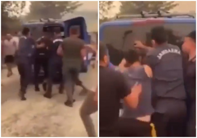(ВИДЕО) Уапсен осомничен за пожарите во Турција, толпата сакаше да го линчува