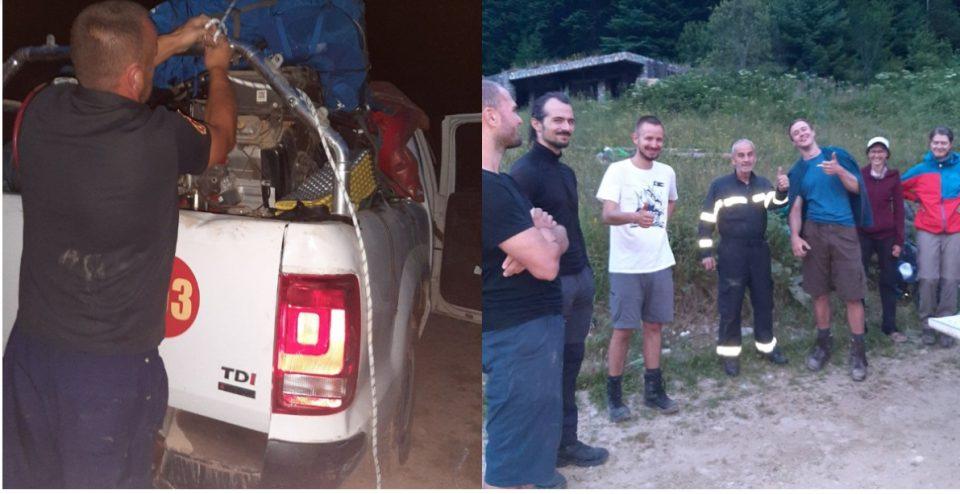 Спасени група повредени и изгубени планинари од Чешка на Шар Планина