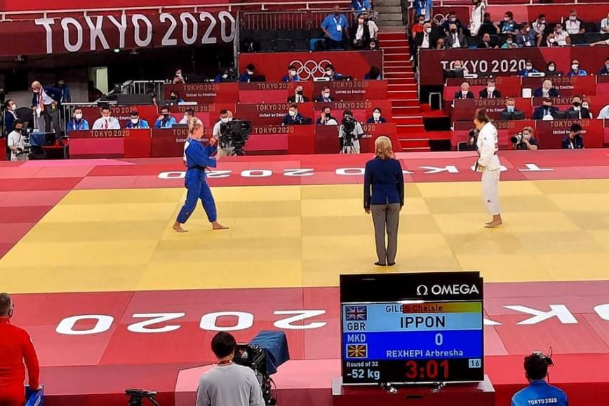 Џудистката Реџепи поразена на самиот старт на Олимписките игри