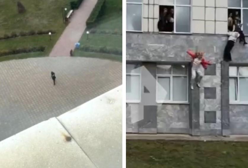 (ВОЗНЕМИРУВАЧКО ВИДЕО) ТЕРОРИСТИЧКИ НАПАД на кампус во Русија, преплашени студенти скокаат од прозорци