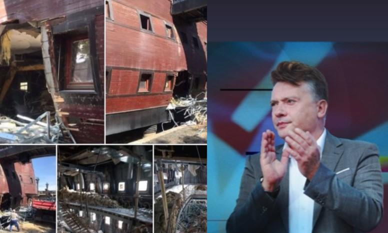Шилегов се пофали дека руши една од галиите во Вардар, од ВМРО-ДПМНЕ велат тој ќе биде запаметен само по рушењето