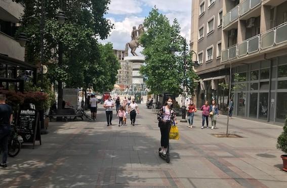 Утре попладне и вечер затворен центарот на Скопје за сообраќај