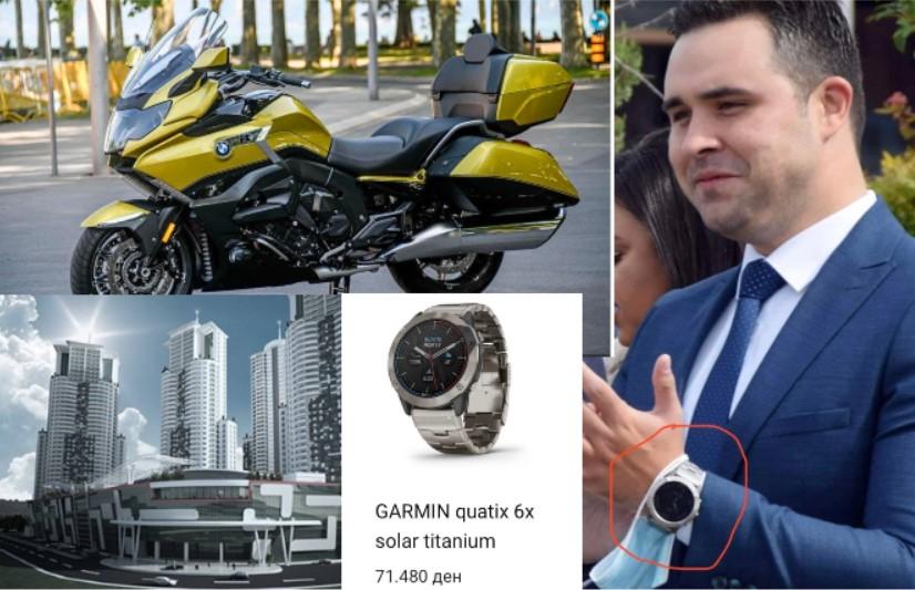 Десетици илјади евра за луксузни станови, мотори и часовници – вака живее пратеникот Костадин Костадинов