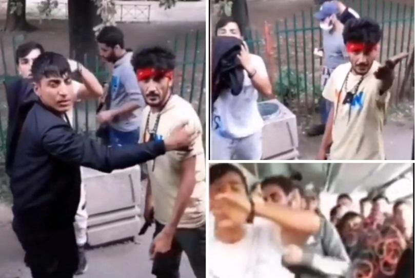 (ВИДЕО) Србин нападна мигранти во автобус: Да имав оружје ќе ве убиев