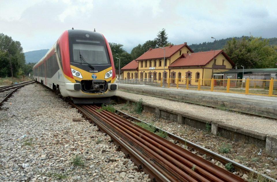Пожар во возот од Гевгелија кон Скопје