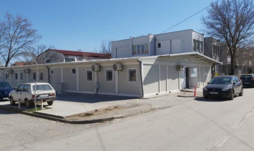 Оштетена таблата за електрична енергија на модуларната болница во Прилеп