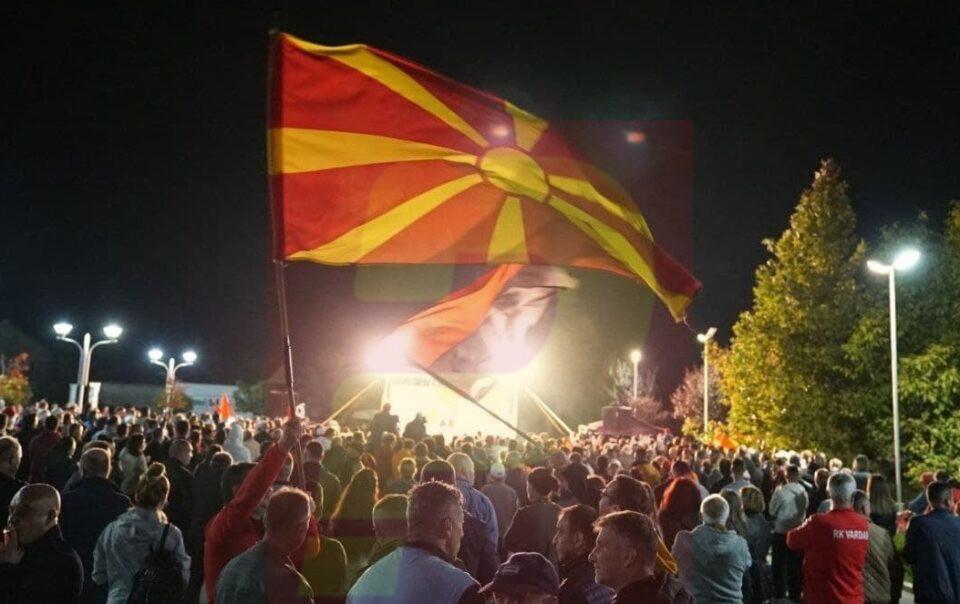 (ВО ЖИВО) Митинг на ВМРО ДПМНЕ во Крива Паланка